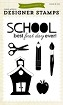 Echo Park - Designer Clear Stamps - Back To School