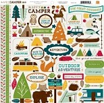 "Echo Park - Happy Camper Collection by Kasie Fry & Alisha Gordon - 12""x12"" Sticker Sheet - Element Stickers"