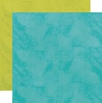 "Echo Park - Here & Now Collection by Lori Whitlock - 12""x12"" Double Sided Paper - Teal / Green"