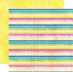 "Echo Park - Here & Now Collection by Lori Whitlock - 12""x12"" Double Sided Paper - Rainbow Chevrons"