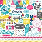 "Echo Park - Here & Now Collection by Lori Whitlock - 12""x12"" Sticker Sheet - Element Stickers"