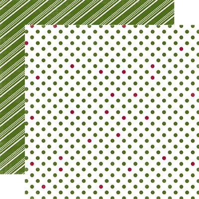 Echo Park-Dots & Stripes Holiday-Paper-Snowy Pine Medium Dot