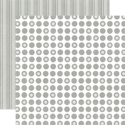 Echo Park-Dots & Stripes Holiday-Paper-Silver Bells Small Dot
