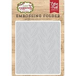 Echo Park - Embossing Folder - I Love Christmas - Pine Boughs