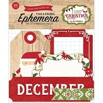 Echo Park - I Love Christmas Collection - Die Cut Tags & Frames Ephemera