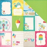 "Echo Park - I Love Sunshine Collection - 12""x12"" Cardstock - 3X4 Journaling Cards"