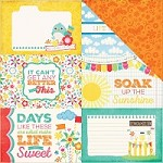 "Echo Park - I Love Sunshine Collection - 12""x12"" Cardstock - 4X6 Journaling Cards"