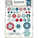 Echo Park - I Love Winter Collection - Decorative Brads