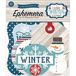 Echo Park - I Love Winter Collection - Die Cut Ephemera