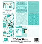 Echo Park - Mini Themes - Totally Teal - Collection Kit
