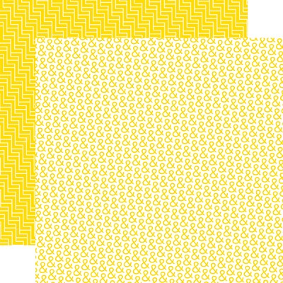 "Echo Park - Mini Themes - Yellow Submarine - 12""x12"" Double Sided Paper - Mellow Yellow"