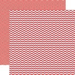 "Echo Park - Mini Themes - Red - 12""x12"" Double Sided Paper - Red Chevron"