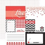 "Echo Park - Mini Themes - Red - 12""x12"" Double Sided Paper - Red Journaling"