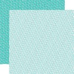 "Echo Park - Mini Themes - Totally Teal - 12""x12"" Double Sided Paper - Totally Teal"