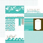 "Echo Park - Mini Themes - Totally Teal - 12""x12"" Double Sided Paper - Teal Journaling"