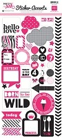 Echo Park - Mini Themes - Pretty in Pink - Sticker Accents