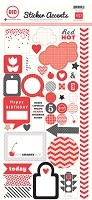 Echo Park - Mini Themes - Red - Sticker Accents
