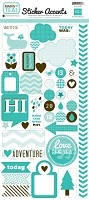 Echo Park - Mini Themes - Totally Teal - Sticker Accents