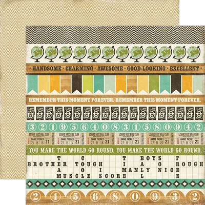 Echo Park - This & That Charming 12x12 paper - Border Strips
