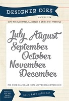 Echo Park - Though The Year Collection - July to December Months Die Set