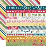 Echo Park - Though The Year Collection - Month Border Strips