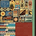 "Echo Park - Photo Freedom Transatlantique Collection - 12""x12"" Sticker Sheet - Element Stickers"