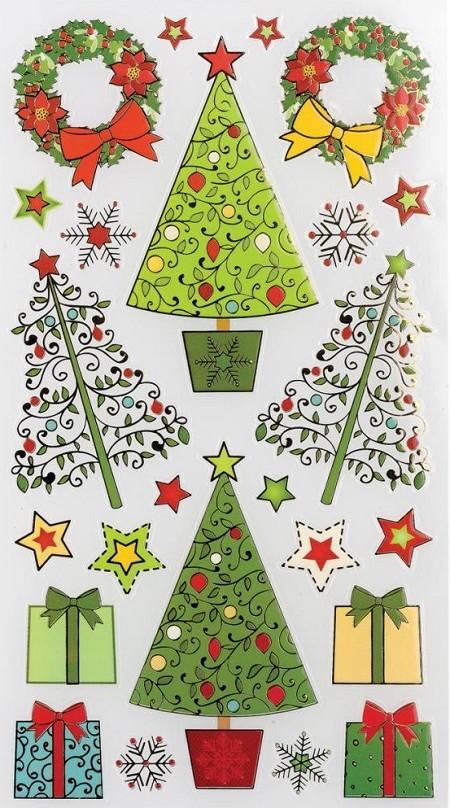 ek sticko classic flat stickers decorative christmas tree - Flat Christmas Tree