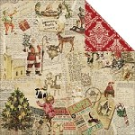 "Fab Scraps - Christmas Joy Collection - 12""x12"" Double Sided Cardstock - Christmas Elves"