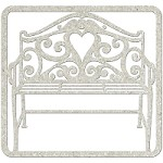 Fab Scraps - Elegant Chic Collection - Die-Cut Chipboard Embellishment - Filligree Bench