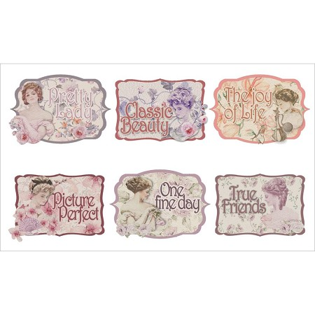Fab scraps my fair lady collection sayings small clear stickers