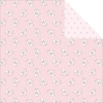 "Fab Scraps - Royal Baby Collection - 12""x12"" Double Sided Cardstock - Precious Bunny"