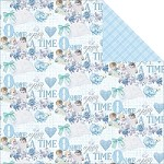 "Fab Scraps - Royal Baby Collection - 12""x12"" Double Sided Cardstock - Baby Boy"