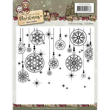 Find It Trading - Yvonne Creations Embossing Folder - Celebrating Christmas