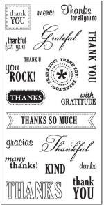 "Fiskars - 4"" X 8"" Clear Stamp - So Much Thanks"