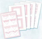 Flower Soft-Card Topper-Mini Bouquet & Mounts-Pink