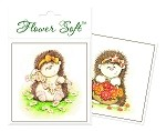 Flower Soft-Card Topper-Hedgrow Friends-Picking Flowers