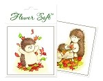 Flower Soft-Card Topper-Hedgrow Friends-Kicking Up Leaves