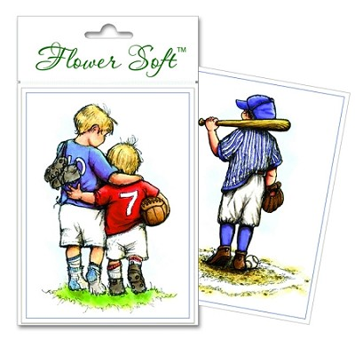 Flower Soft-Card Topper-Moments in Time-Boys Sports