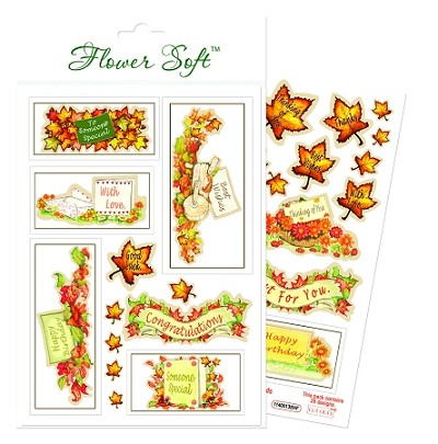 Flower Soft-Card Topper-Hedgrow Friends-Sentiments