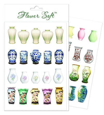 Flower Soft-Card Topper-Summer Mixed Vases