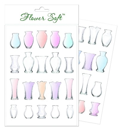 Flower Soft-Card Topper-Summer Glass Vases