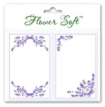 Flower Soft-Card Topper-Lavender Borders