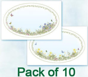 Flower Soft-Card Topper-Garden Ovals