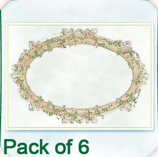 Flower Soft-Card Topper-Edwardian Ovals