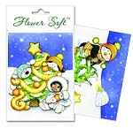 Flower Soft-Card Topper-Polar Friends-Christmas Tree