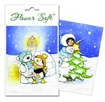Flower Soft-Card Topper-Polar Friends-The Carol Singers