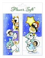 Flower Soft-Card Topper-Polar Friends-Sleigh Bells