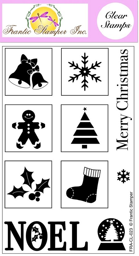 Frantic Stamper Clear Stamp Set - Square Christmas Vignettes