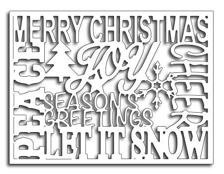 Frantic Stamper Precision Die - Christmas Words Card Panel
