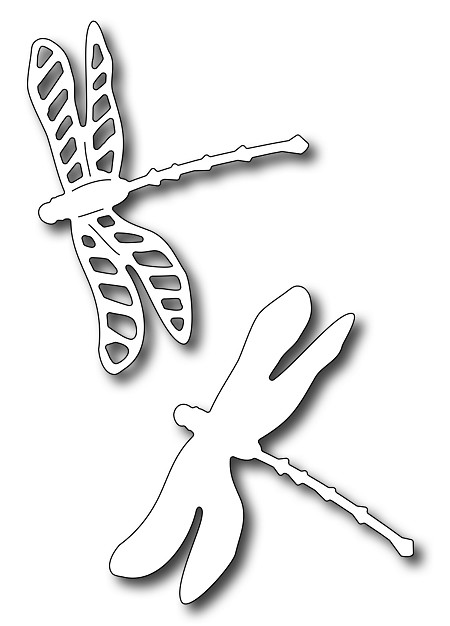 Frantic Stamper Precision Die - Dragonfly Pair (set of 2 dies)
